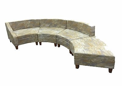 406 curved sofa mill