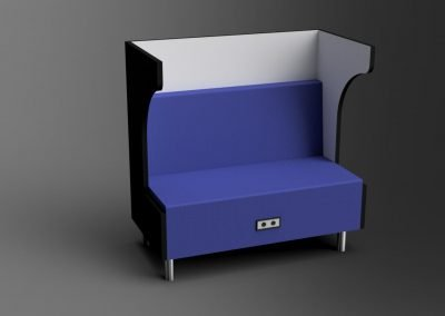Venice - Wing Booth With Power- 3D Rendering