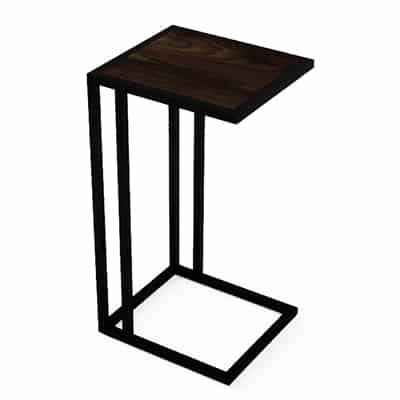 Moments large square table with legs on one side by Table Logix